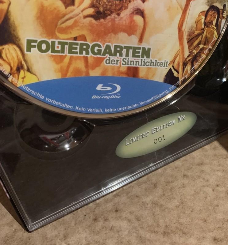 Blu-ray * FOLTERGARTEN DER SINNLICHKEIT * Mediabook Nr.1/444