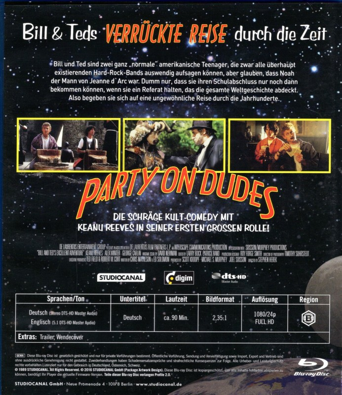 BILL & TED´S VERRÜCKTE REISE DURCH DIE ZEIT Blu-ray Klassik