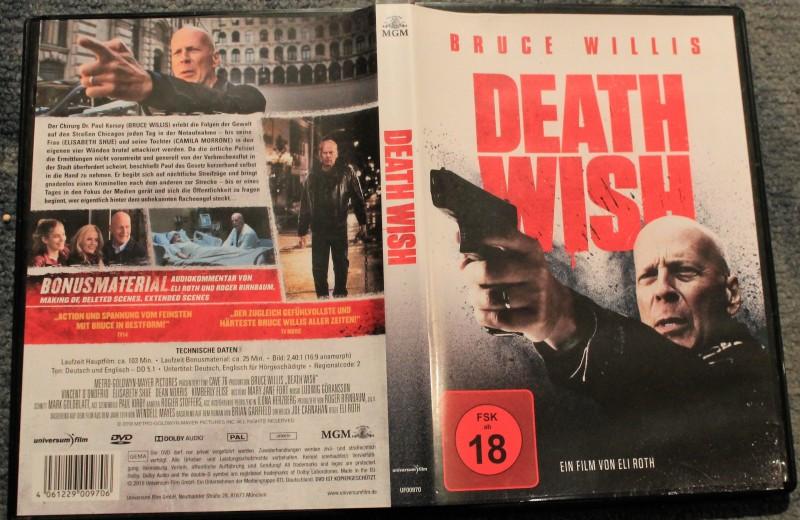 Death Wish - Bruce Willis - FSK 18 - Charles Bronson