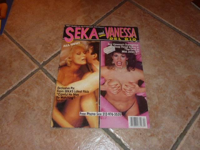 SEKA and VANESSA del RIO No.1 Vintage Swank Magazin 1987