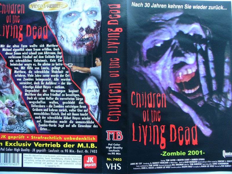 Children of the Living Dead ... Zombie 2001   ... VHS