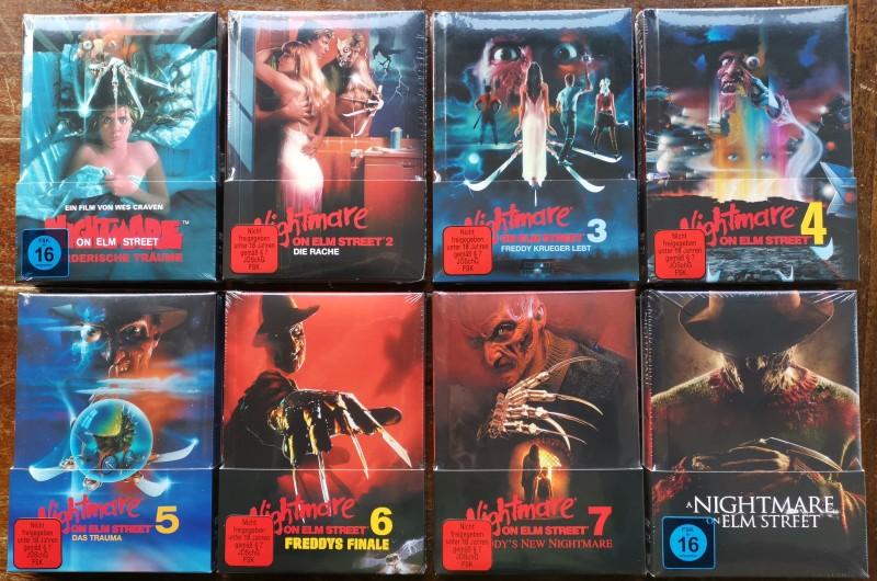 Nightmare on Elm Street 1-7 + Remake-wattierte Mediabook NEU
