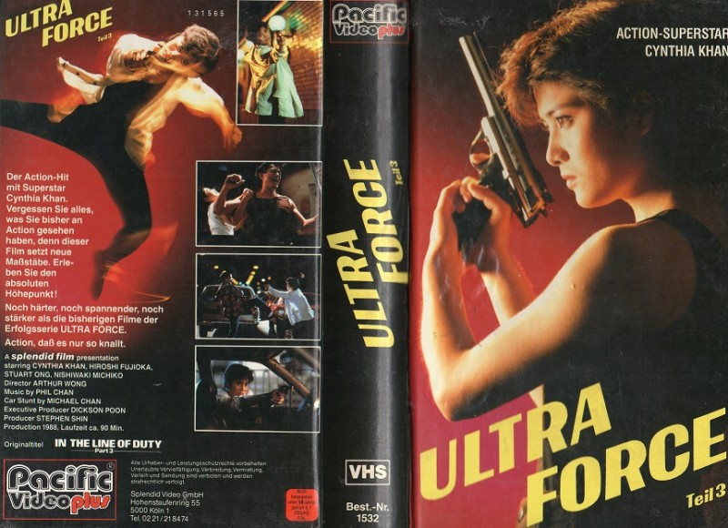 ULTRA FORCE -Teil.3- Pacific gr.HB VHS- NUR COVER !