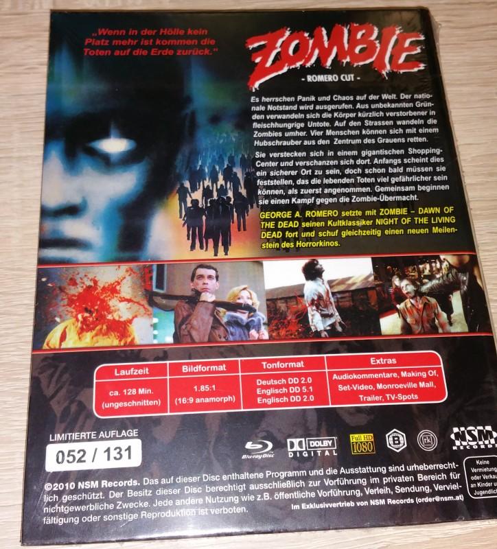Zombie - Dawn of the Dead NSM kleine Hartbox Blu-Ray Neu OVP