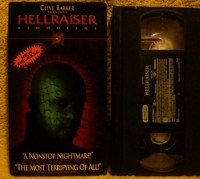 Hellraiser 4 Bloodline VHS US NTSC tape Uncut