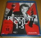 Resident Evil: 1-5 Blu-ray Neu & OVP