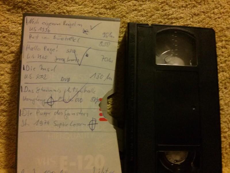Leerkassette VHS ideal for long play Nr.583