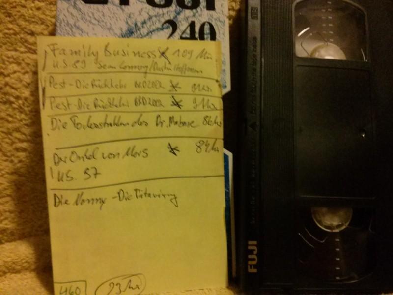 Leerkassette VHS ideal for long play Nr.460
