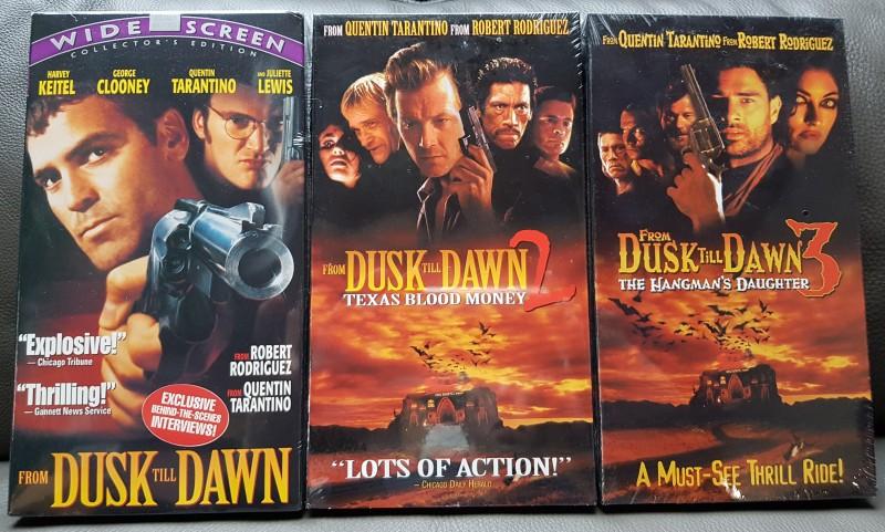 From Dusk Till Dawn 1-3 /  VHS Sammlerstücke  - OVP