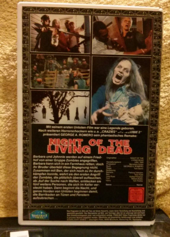 Night of the living dead Tom Savini Remake VHS Uncut
