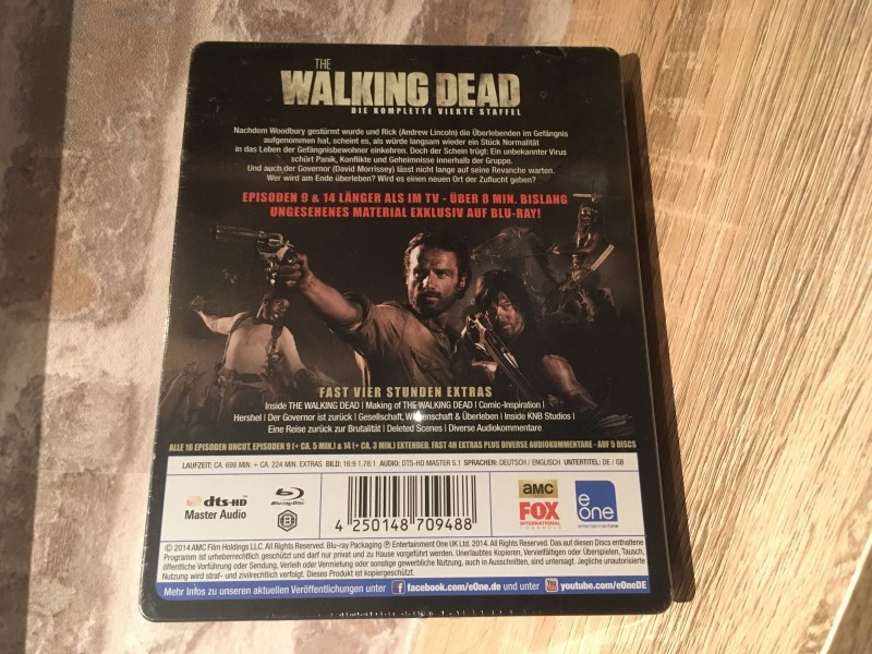 THE WALKING DEAD-Vierte Staffel-Steelbook-NEU/OVP !