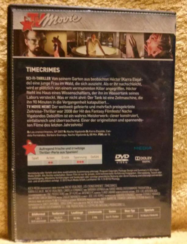 Timecrimes Mord ist nur eine Frage der Zeit DVD