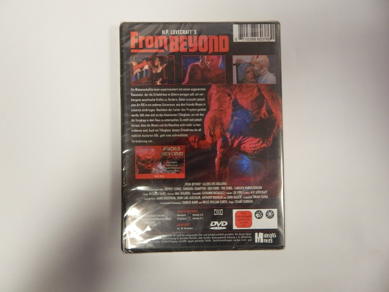 H.P.Lovecrafts From Beyond Unrated Directors Cut KJ82min NEU