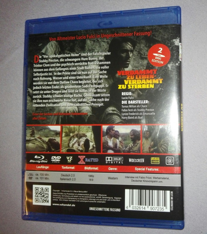 Verdammt zu leben verdammt zu sterben - Uncut Blu-Ray 2 Disc