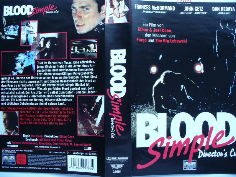 Blood Simple ... Frances McDormand, John Getz ... FSK 18