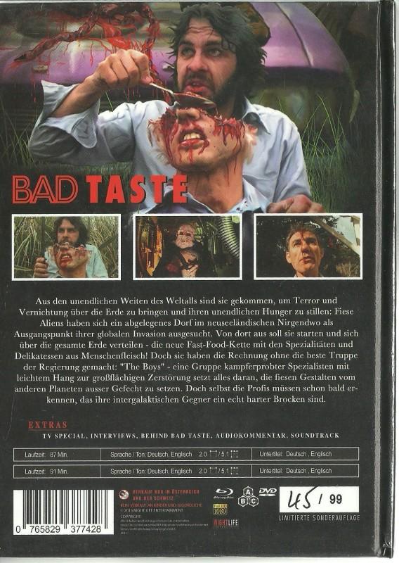BAD TASTE - Mediabook  OVP
