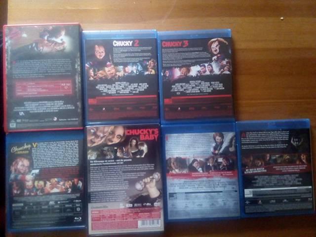 Chucky 1-7 blu ray  und dvd  uncut