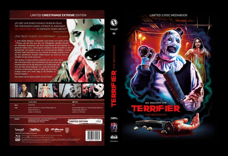 TERRIFIER The Begining Mediabook Cover A 333