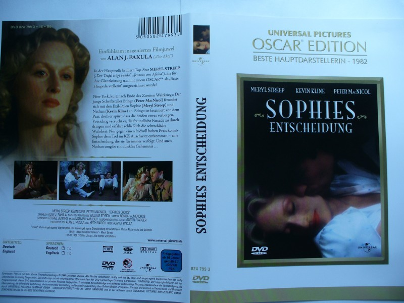 Sophies Entscheidung ... Meryl Streep, Kevin Kline ... DVD