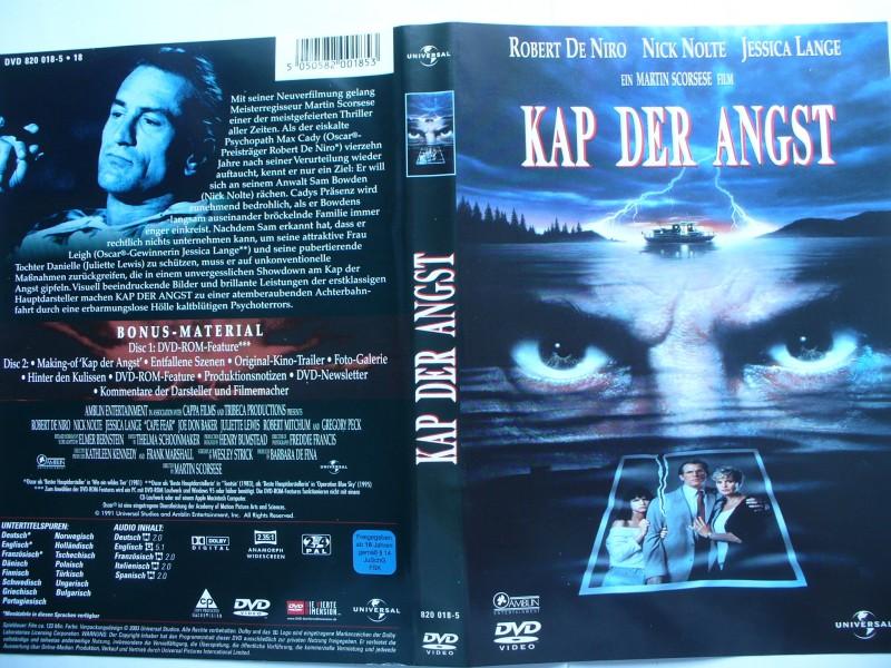 Kap der Angst ... Robert De Niro, Nick Nolte  ... DVD