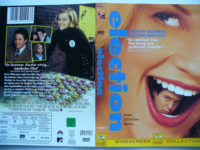 Election ... Matthew Broderick, Reese Witherspoon ... DVD