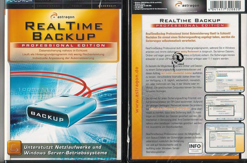 PC Real Time Backup Professional(NEU, OVP)