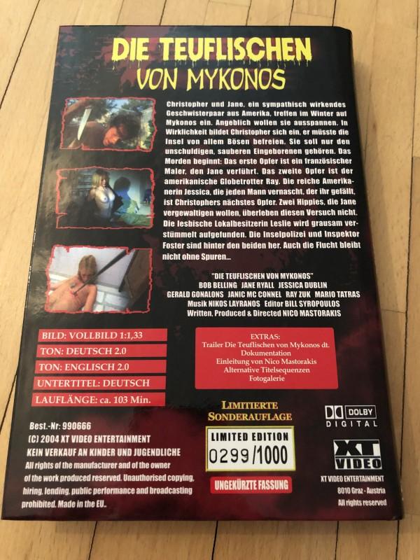 Teuflischen von Mykonos-  XT Video - Große Hartbox - OVP