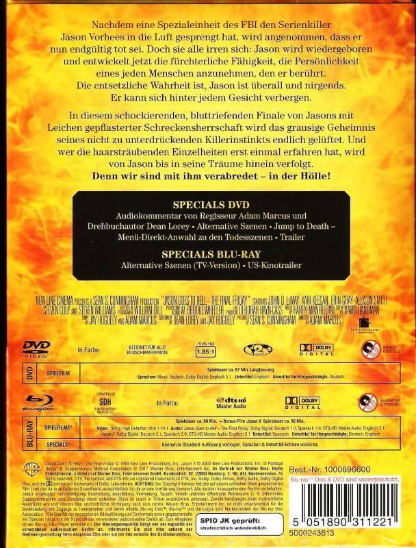 Freitag der 13. Teil 9 Jason Goes To Hell Mediabook watt Ovp