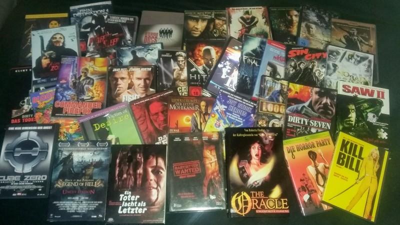 36-teiliges Filmpaket - Diverse Titel - Saw, Sin City, ...