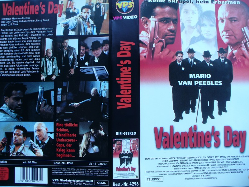 Valentine´s Day ... Mario Van Peebles ... VHS ...  FSK 18