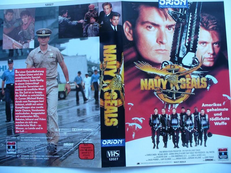 Navy Seals ... Charlie Sheen, Michael Biehn ...VHS ..FSK 18