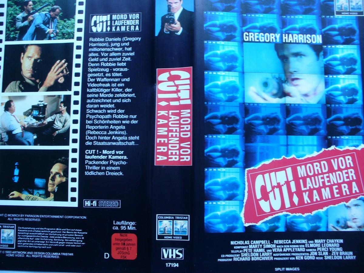 Cut ! Mord vor laufender Kamera   ... VHS ... FSK 18