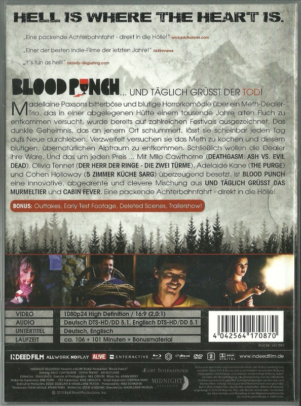 BLOOD PUNCH - Mediabook in Glanzschutzhülle