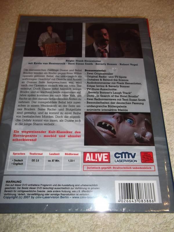 BASKET CASE UNCUT DVD HARTBOX NEU / OVP
