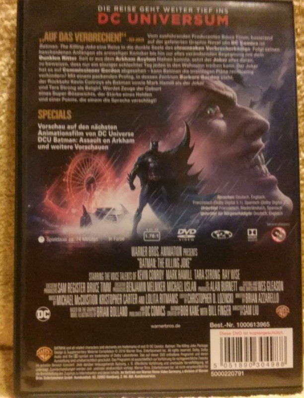 BATMAN The Killing Joke DVD (V4)