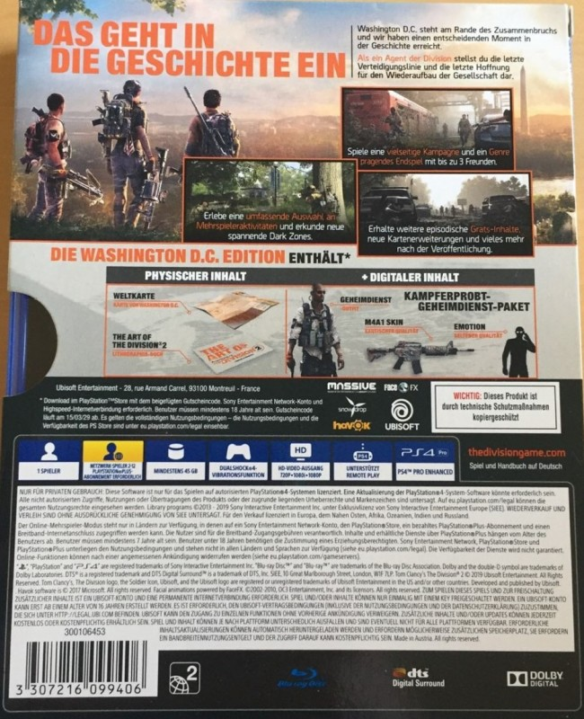 The Division 2 ( Washington D.C.Edition ) ( PS4 )