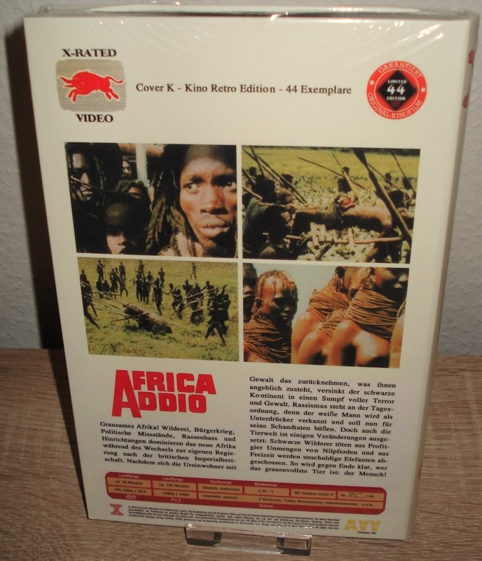 AFRICA ADDIO lim. 44 X-Rated Blu-ray Hartbox C (NEU/ OVP)