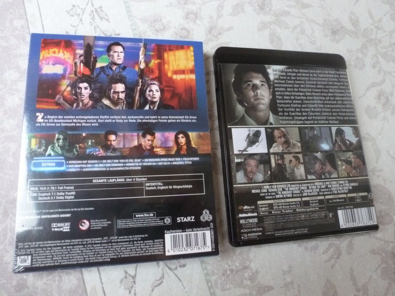 Blu-Ray Raritäten (Nackt für den Killer MB, Ash vs Evil...2