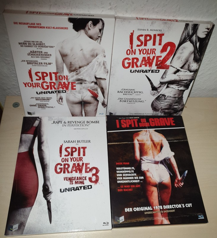 I Spit on your Grave 1+2+3 + Original * Blu-Ray im Schuber