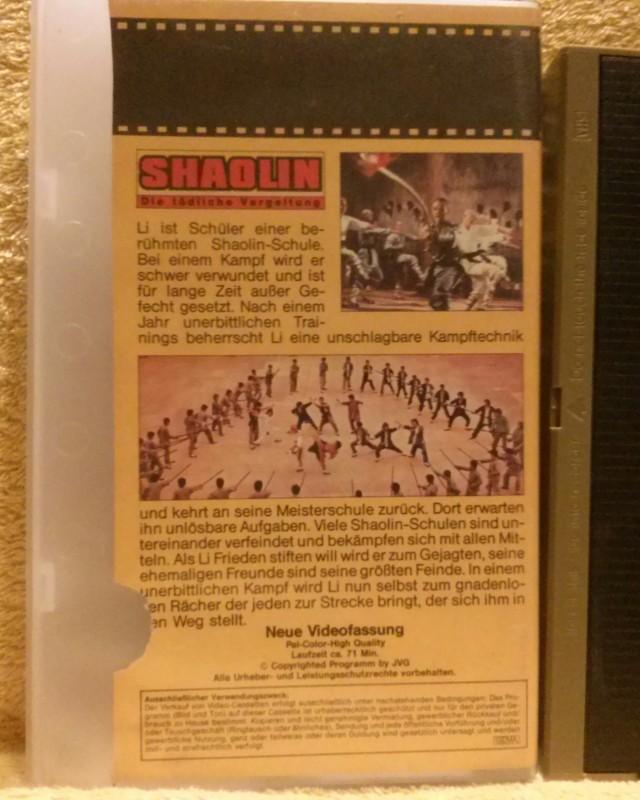 Shaolin Die tödliche Vergeltung aka Iron Monkey VHS (A41)