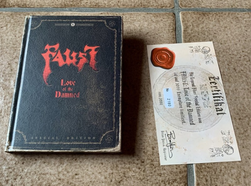 DVD * FAUST - Love of the Damned (2000) * Mediabook
