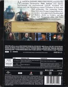 Mortal Engines: 2 Disc Blu Ray STEELBOOK WIE NEU