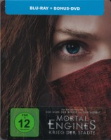 Mortal Engines: 2 Disc Blu Ray STEELBOOK WIE NEU