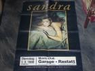 Sandra - Altes Konzert Plakat A1- 1.3.1988  Garage - Rastatt