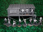 Samurai mit Bambushaus 1/35 Miniaturen
