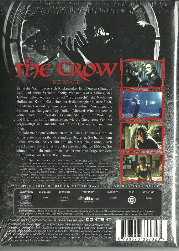 THE CROW - Mediabook  OVP   Gepolstets Cover