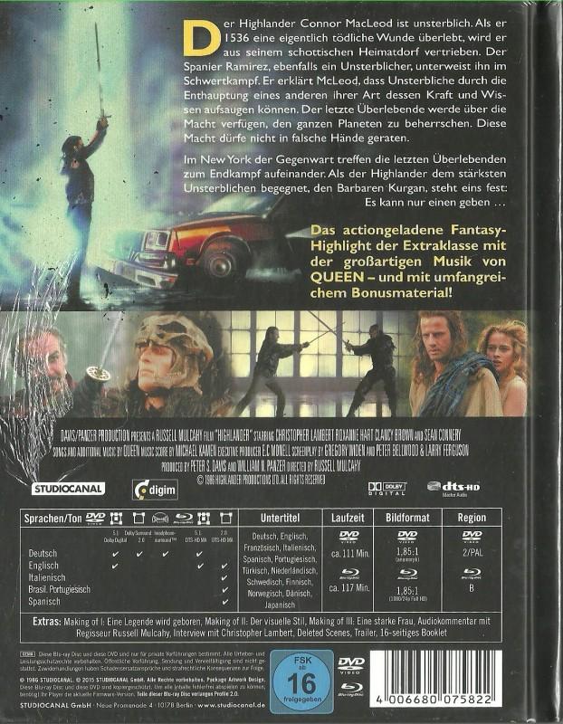 HIGHLANDER - Mediabook   OVP