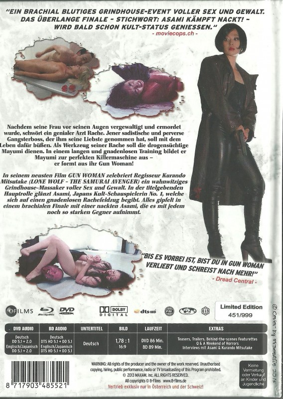 GUN WOMAN - Mediabook  OVP