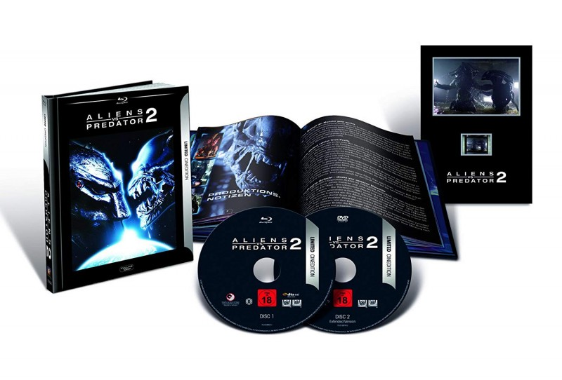 Alien vs Predator 2   Br EXTENDED Mediabook 3D Cined ovp