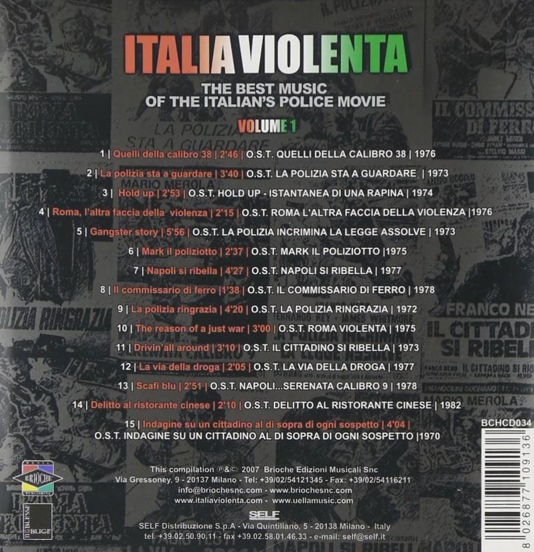 ITALIA VIOLENTA - VOL. 1+2 - 2 CDs